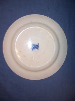 Vintage Blue & White Willow Pattern England 8 Inch Plate photo