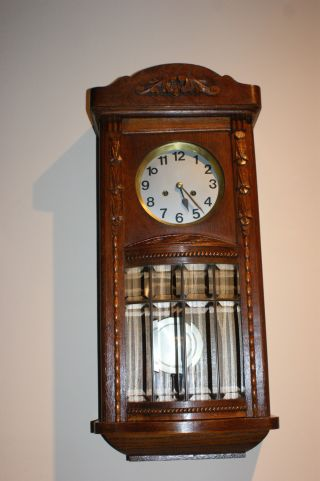 - Antique Junghans Wall Clock C.  1900 photo
