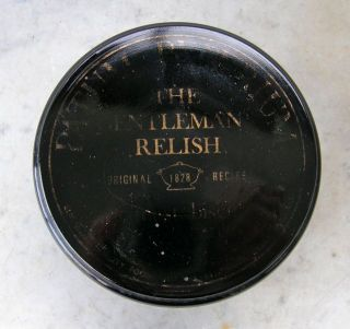 Black Glass Jar Patum Peperium The Gentlemans Relish For Toast Or Biscuits photo