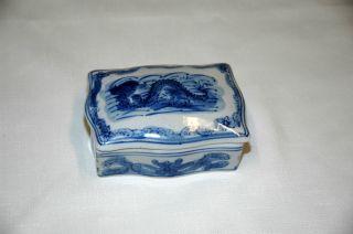 Blue Dragon Porcelain Box photo