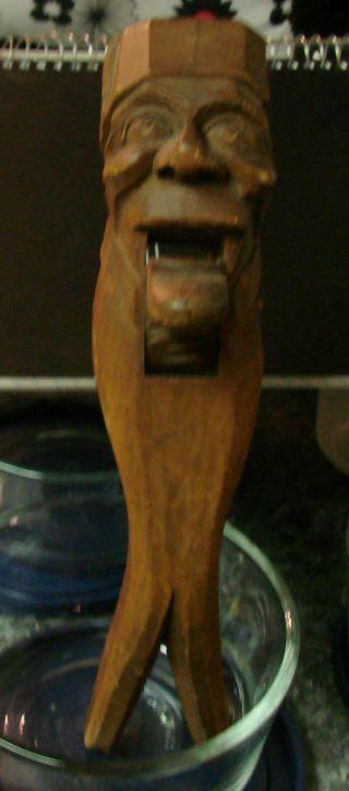 Antique Wooden Hand Carved Nutcracker Quebec Fez photo