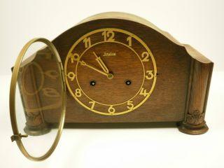 Excellent Antique Art Deco 1938 Junghans Shelf/mantle Clock photo