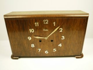 Excellent Large Antique Bauhaus Art Deco 30 ' S Junghans Shelf/mantle Clock photo