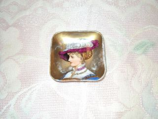 Antique Butter Pat With Victoria Woman photo