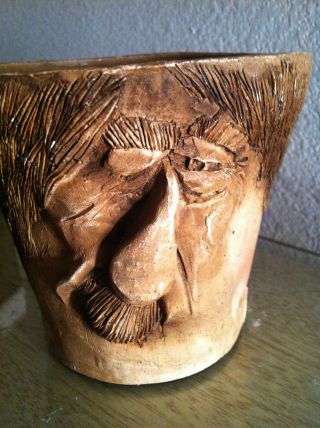 Vintage Wood Carving Old Man ' S Face Kersten Bros.  1975 photo