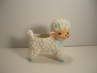 This Is A Vintage Antique Little Bo Peep Sheep/lamp Ceremic Planter photo