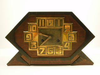 Unique Striking Hamburg American Pfeilkreuz Art Deco Mantle Shelf Clock 1920 ' S photo
