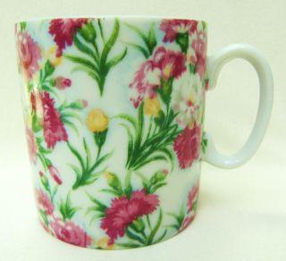 Pretty Vntg Victorian Porcelain Mug Cup Carnation Floral Flower Transfer Pattern photo