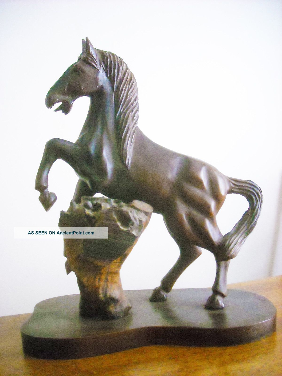 Horse,  Black Forest Walnut,  Hand Carved Carved Figures photo