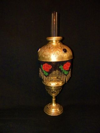 Exquisite French Parisian Boudoir Kerosene Lamp,  Art Deco. photo