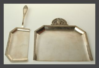 Louis Xiv Style Dresser Set Silver Made In France Ca.  1800 - 1820 photo