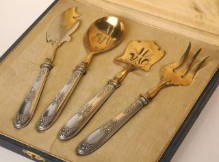 A Outstanding Service - Sweet Pantry Silver & Gold - Plated Bronze 19th Century photo