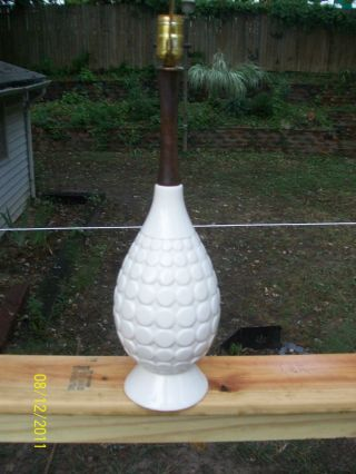 Mid - Century Modern Danish White Ceramic Bubble Lamp photo