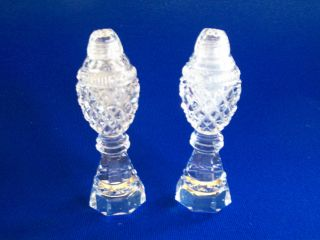 Antique Vintage Cut Glass Lead Crystal / Salt And Pepper Set, photo