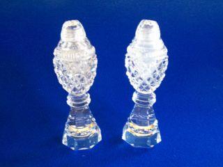 Antique Vintage Cut Glass Lead Crystal / Salt And Pepper Set, photo