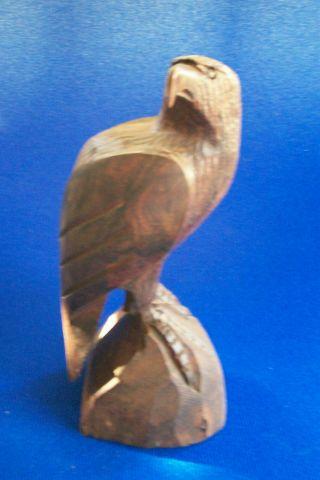 Eagle / Antique Carved Wooden Sculpture Figure photo