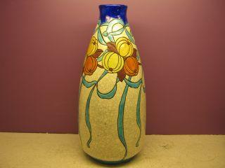 Boch Freres Keramis,  Catteau,  Art Deco Vase,  D745,  1923,  12