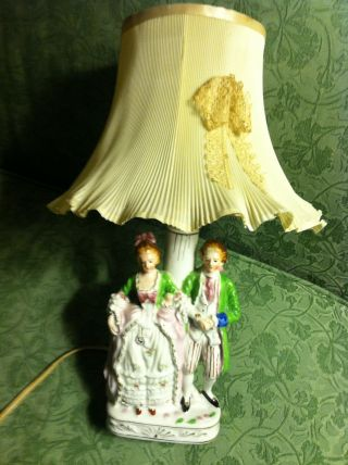 Porcelain Figurine Lamp Made In Japan photo