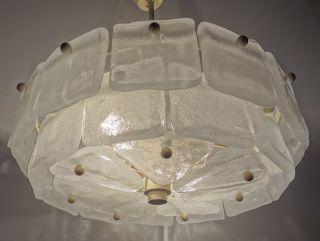 Kalmar Franken Kg Ice Glass Lamp Chandelier Retro Vintage Ceiling Light photo
