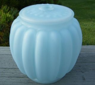 Antique Blue Consolidated Glass Vanity Lamp Base Only photo