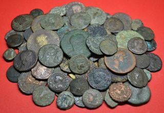 Huge Collection Of 78 Roman Coins.  Excellent Quality Lot Grades 300g. photo