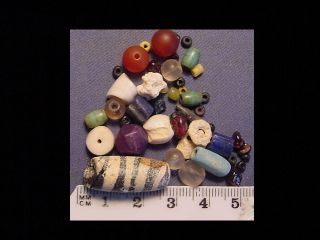 30 + Roman Beads Circa 100 - 400 A.  D. photo