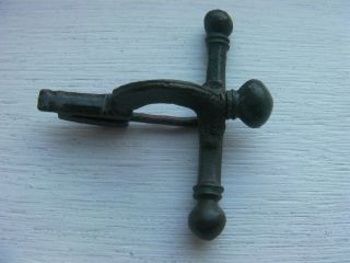 Roman Large Bronze Crossbow Brooch & Pin Intact Uk Detector Find photo