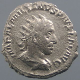 Aemilian,  Antoninian,  Silver,  Diana,  Bow,  Arrow,  Minted Rome 253 A.  D.  - Rare photo
