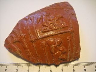 Large Authentic Fragment From A Roman Terracotta - Terra Sigillata (1) photo
