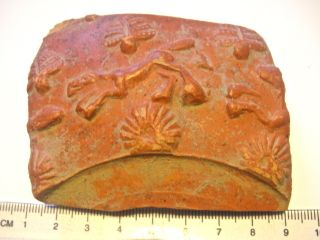 Large Authentic Fragment From A Roman Terracotta - Terra Sigillata (2) photo