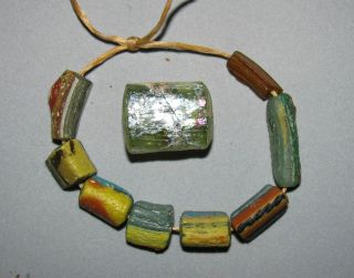 Ancient Roman Glass Beads,  Focal Remarkable photo