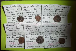Collection Of Ancient Roman Coins Old Silver Money Lot Artifact Treasure Antique photo