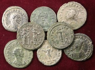 Lot: 8 Coins Of Probus; Different Types,  Minted 276 - 282 A.  D. photo