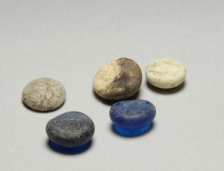 Authentic Ancient Roman Glass Gaming Counter Token Gambling Antique 100 A.  D. photo
