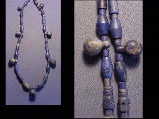 String Of Roman Lapis Lazuli Beads Circa 100 - 400 A.  D. photo