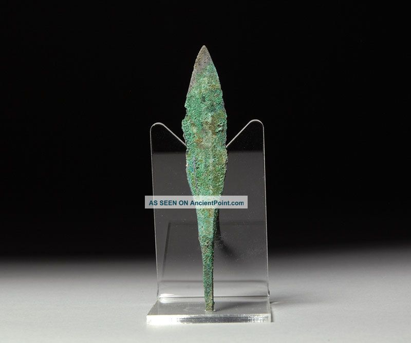 Ancient Persian Bronze Age Quad Battle Arrow Head Weapon - 1200 B.  C. Near Eastern photo
