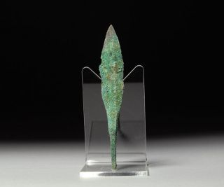 Ancient Persian Bronze Age Quad Battle Arrow Head Weapon - 1200 B.  C. photo
