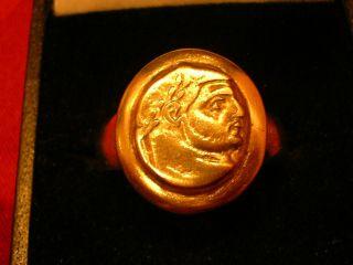 Ancient Bronze Roman ' Emperor ' Ring photo