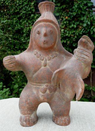 Large Pre Columbian Style Colima Terracotta Figure photo
