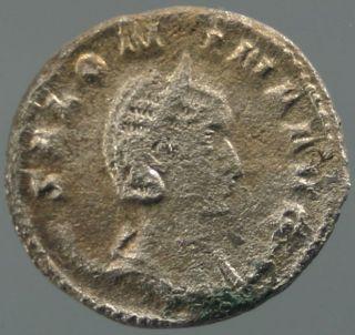 Salonina,  Wife Of Gallienus,  Billon,  Juno Regina,  253 - 268 A.  D. photo