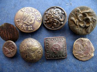Buttons 18th To 19th Century Small X 8 photo