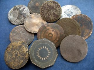 Buttons Dandy Type 18th To 19th Century X 12 photo