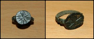 Medieval Ring With Stepped Shoulders photo