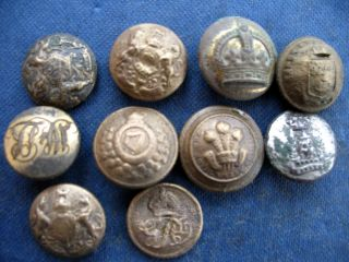 Buttons Military Small X 10 photo