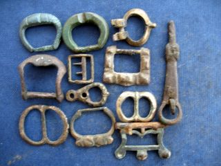 Buckles,  Medieval And Post Medieval X 12 photo