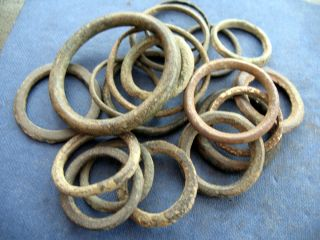 Medieval Harness Rings /ring Money X 20 photo