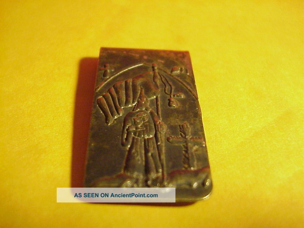 Kkk klu klux klan money clip brass very old the americas photo