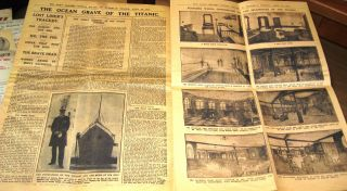 1912 Rms Titanic Newspaper Daily Graphic Vintage Photos Old Ship Sinking Retro photo