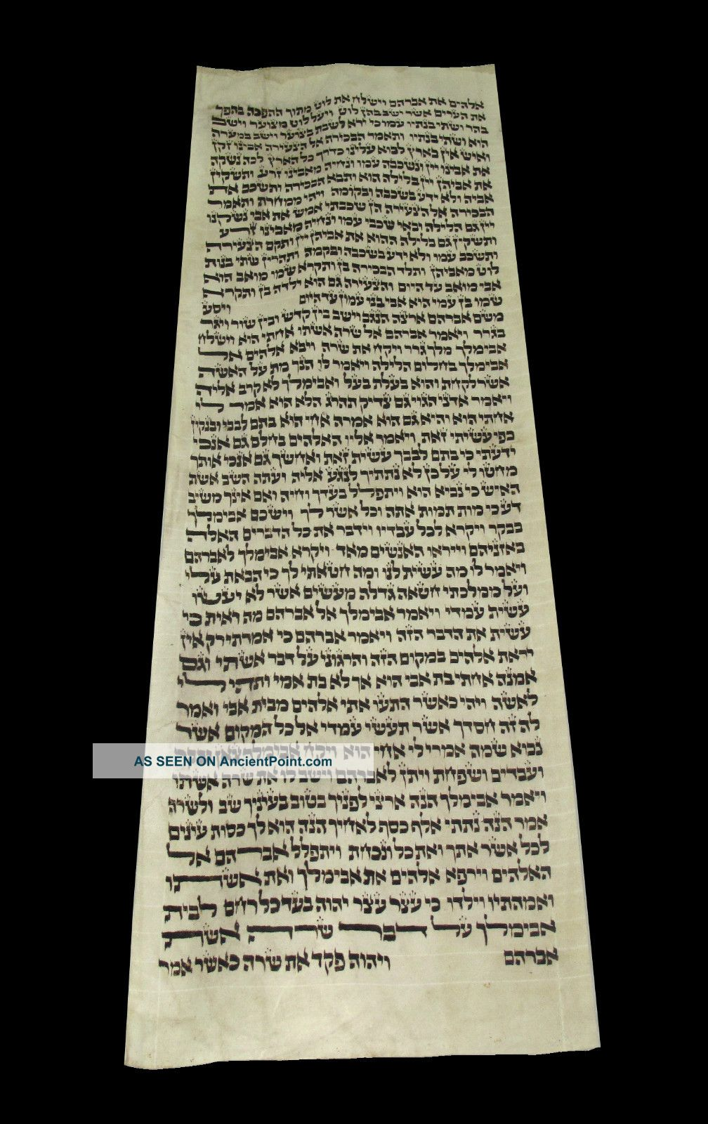 Torah Bible Handwritten Calf Skin Judaica 250 Yrs Old Germany Middle Eastern photo