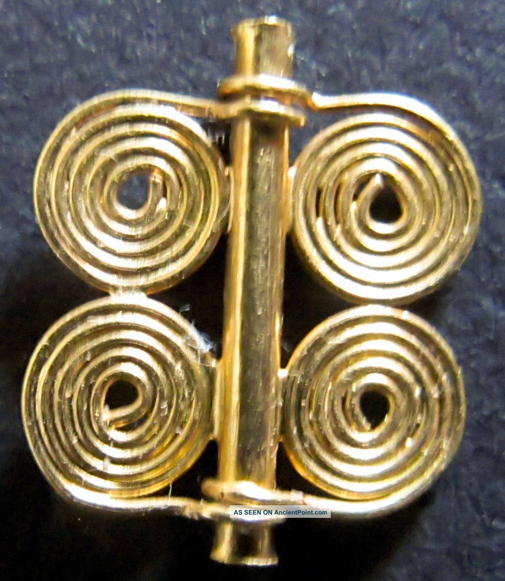 22ct Gold Quadruple Spiral Bead From Marlik,  Iran,  1250 - 900bc Near Eastern photo
